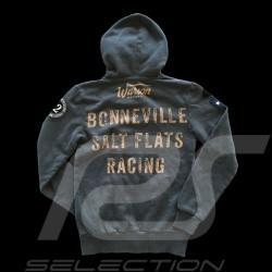 Veste à capuche hoodie Bonneville gris carbone - femme women damen jacket jacke grey grau