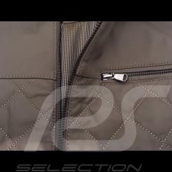 Veste cuir gentleman driver matelassée courte taupe - homme