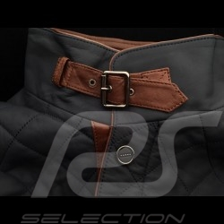 Gentleman driver quilted Leather jacket slate grey - men