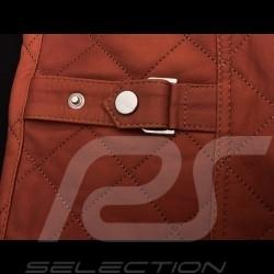 Veste cuir gentleman driver matelassée courte cognac - homme leather jacket lederjacke