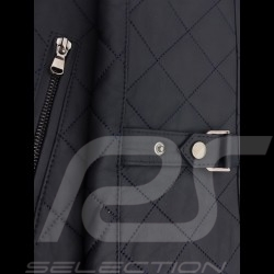 Veste cuir gentleman driver matelassée courte ardoise - homme leather jacket lederjacke