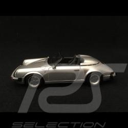 Porsche 911 3.2 Speedster 1989 silver grey 1/43 Spark S4470