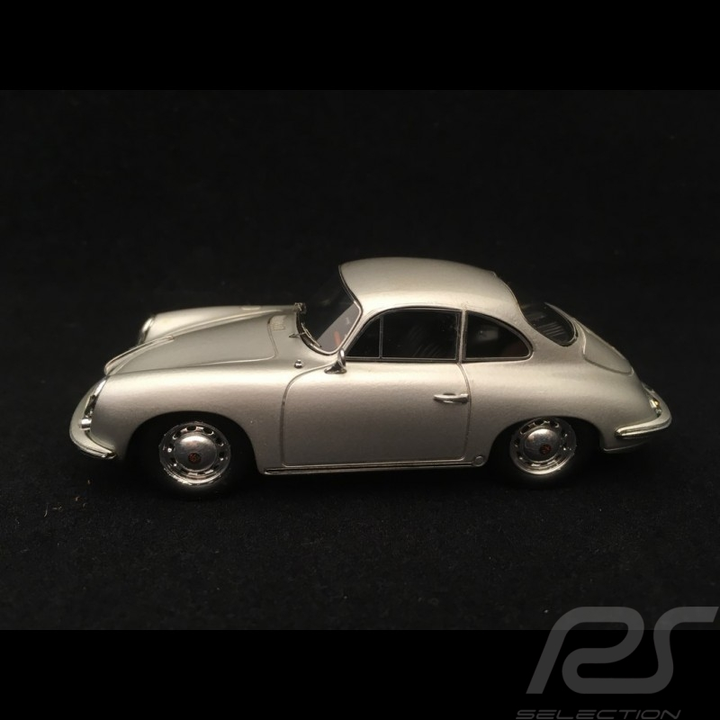 Porsche 356 C Carrera 2 1963 gris argent silver grey silbergrau 1/43 Spark S1370