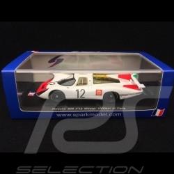 Porsche 908 LH n° 12 Stommelen Herrmann Winner Paris 1968 1/43 Spark SF050
