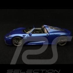 Porsche 918 Spyder 2013 Sapphire blue 1/43 Minichamps 410062130