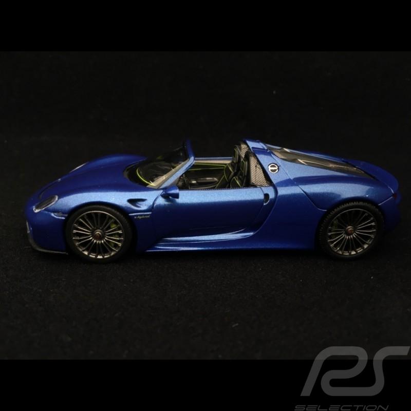 Porsche 918 Spyder 2013 bleu Saphir Sapphire blue Saphirblau 1/43 Minichamps 410062130