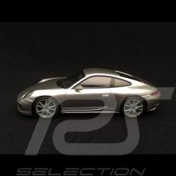 Porsche 911 Carrera T type 991 phase 2 2018 gris argent GT silver grey silbergrau 1/43 Minichamps CA04319004