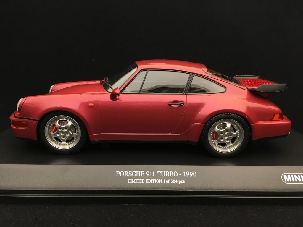 Porsche 911 Type 964 Turbo 3 6 1990 Velvet Red 1 18 Minichamps 155069102 Selection Rs
