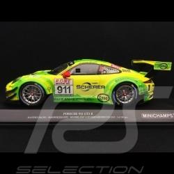 Porsche 911 GT3 R type 991 n° 911 Manthey racing Vainqueur 4h DMV VLN 2017 1/18 Minichamps 155176991