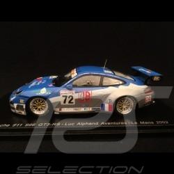 Porsche 911 GT3 RS typ 996 n° 72 Alphand Le Mans 2002 1/43 Spark S5516