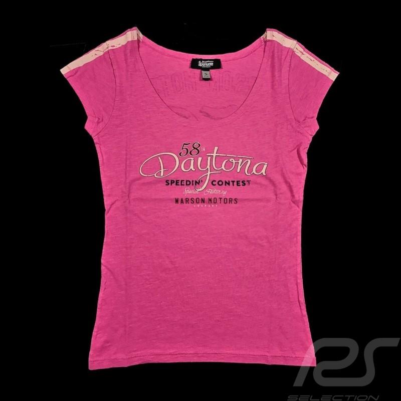 T-shirt Daytona Style Vintage Rose Pink Rosa femme women damen