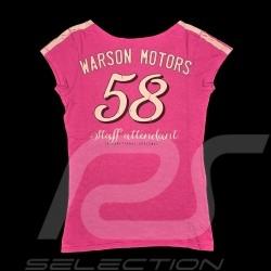 Daytona T-shirt Vintage design Pink - women