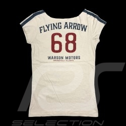 68 Flying Arrow T-shirt Vintage design White - women