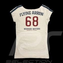 T-shirt 68 Flying Arrow Style Vintage blanc - femme