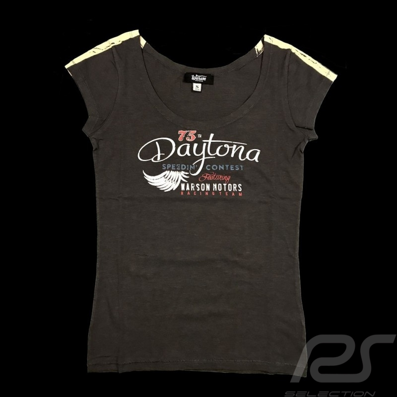 Daytona T-shirt Vintage design Carbon grey - women