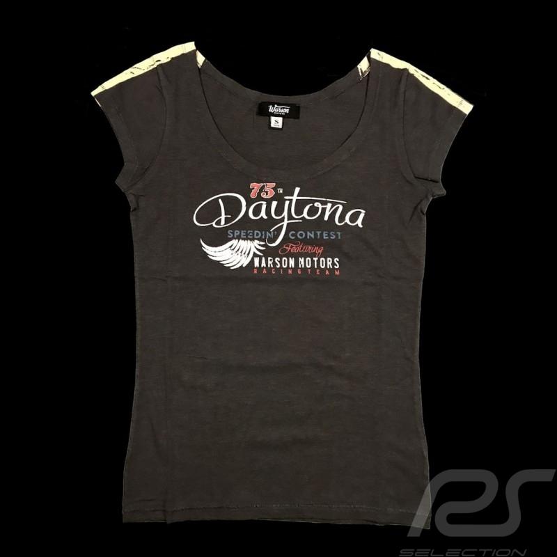 T-shirt Daytona Style Vintage Gris anthracite Carbon grey Carbon grey femme women damen