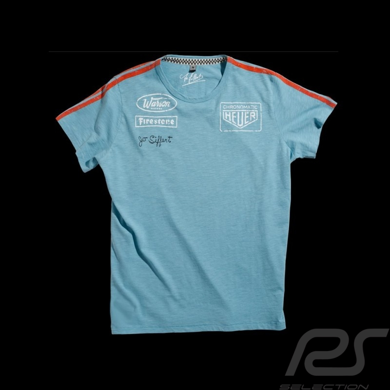 Tee-shirt enfant Jo Siffert Targa Gulf Blue n° 12 kid kinder