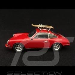 Porsche 911 2.2 S mit ski auf dem Dach 1970 indischrot 1/43 Schuco 450258700