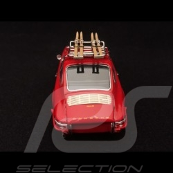 Porsche 911 2.2 S with skis on top 1970 guards red 1/43 Schuco 450258700