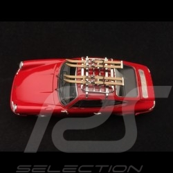 Porsche 911 2.2 S avec skis 1970 rouge indien guards red indischrot 1/43 Schuco 450258700