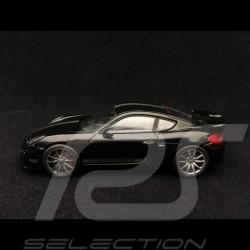 Porsche Cayman GT4 2015 noir bande Porsche argent black Porsche silver stripe schwarz Porsche silber streife 1/43 Schuco 4507589