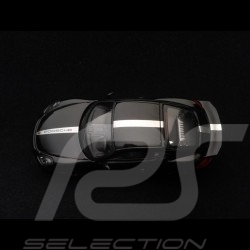 Porsche Cayman GT4 2015 black Porsche silver stripe 1/43 Schuco 450758900