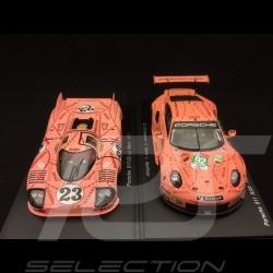 Duo Porsche Pink pig 917 /20 Le Mans 1971 & 911 RSR Le Mans 2018 1/43 Spark S1896 S7033