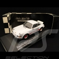 Porsche 911 2.8 Carrera RSR 1973 white Grand Prix red stripes 1/43 Minichamps 430736900