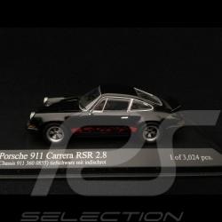 Porsche 911 2.8 Carrera RSR 1973 schwarz rot streife 1/43 Minichamps 430736900
