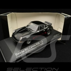 Porsche 911 2.8 Carrera RSR 1973 black red stripes 1/43 Minichamps 430736900