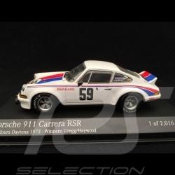 Porsche 911 2.8 Carrera RSR n° 59 Brumos Vainqueur Winner Sieger 24h Daytona 1973 1/43 Minichamps 430736959