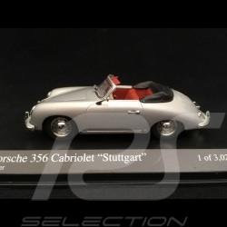 Porsche 356 A Cabriolet Stuttgart 1954 silver grey 1/43 Minichamps 400065030