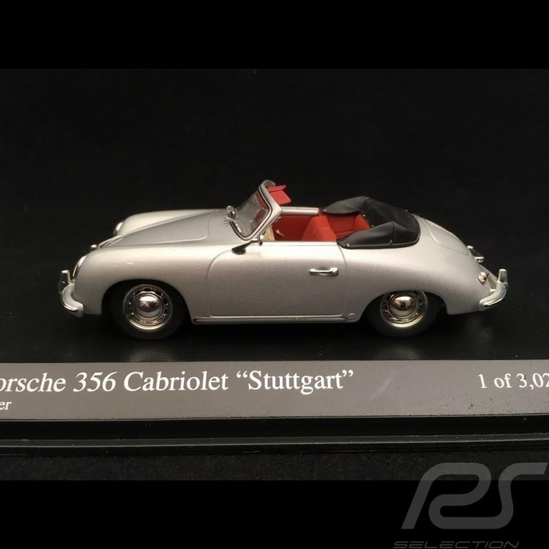 Porsche 356 A Cabriolet Stuttgart 1954 gris argent silver grey silbergrau 1/43 Minichamps 400065030