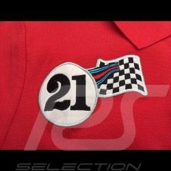 Polo Porsche Martini Racing Collection rot grau Porsche Design WAP921J - Damen