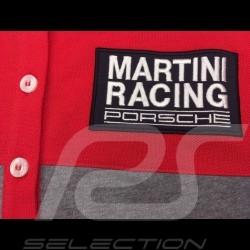 Polo Porsche Martini Racing Collection rouge gris red grey rot grau Porsche Design WAP921J - femme women damen