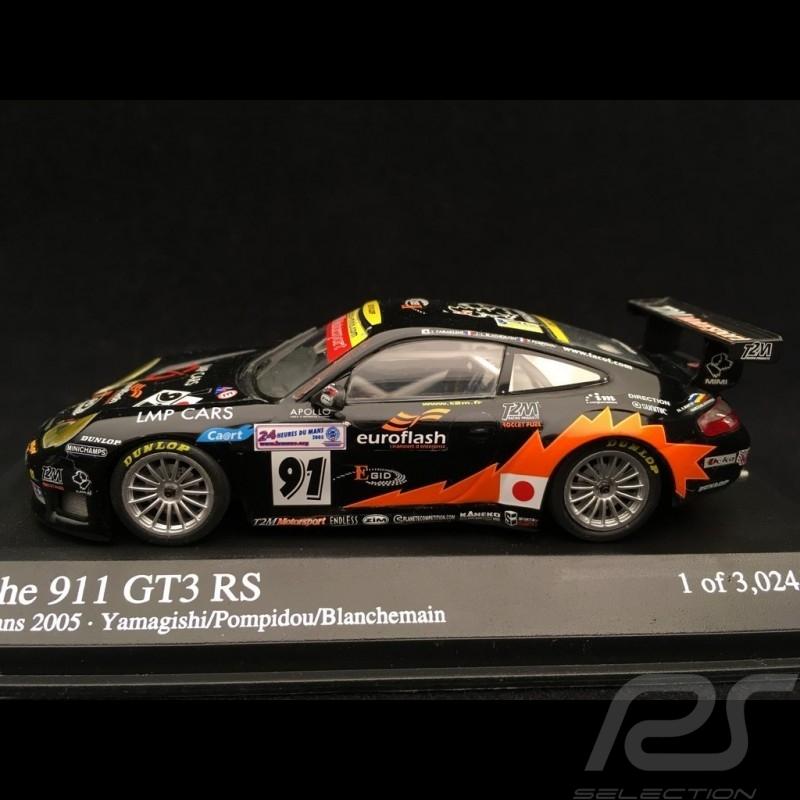 Porsche 911 GT3 RS 996 n° 91 24h du Mans 2005 1/43 Minichamps 400056981