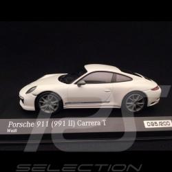 Porsche 911 Carrera T type 991 phase 2 2018 white Grand prix 1/43 Minichamps CA04319003