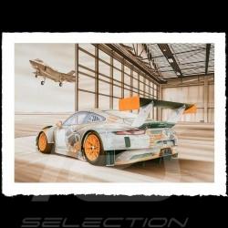 Porsche Poster 911 typ 991 GT3 RSR War machine François Bruère - VA150