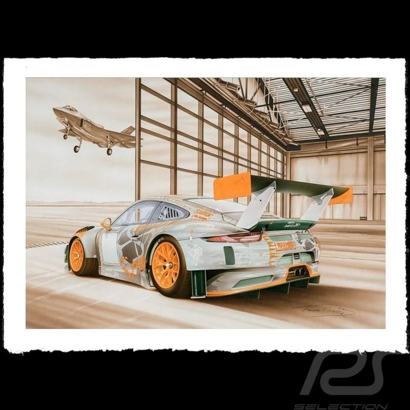 Porsche Poster 911 type 991 GT3 RSR War machine François Bruère - VA150