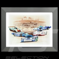 Porsche Poster Derek Bell 5 Le Mans Wins aluminum frame François Bruère - N95