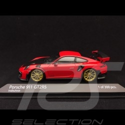 Porsche 911 GT2 RS type 991 rouge indien guards red indischrot / carbone carbon kohlenstoff 1/43 Minichamps 410067227