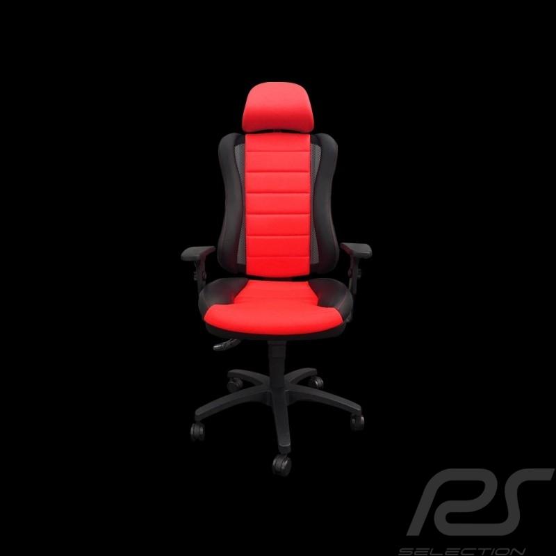 Siège de bureau ergonomique Head Point RS Sport Rouge simili cuir Made in Germany Ergonomic office armchair Ergonomischer Bürost