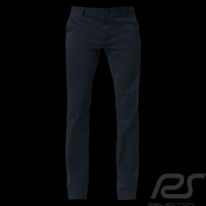 Porsche trousers Slim Fit Basic Chino Navy blue comfort fit Porsche Design 40469018555 - men