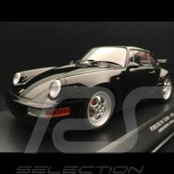 Porsche 911 type 964 Turbo 1990 shiny black 1/18 Minichamps 155069104