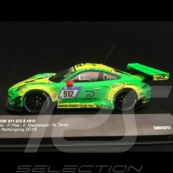 Porsche 911 type 991 GT3 R winner Nürburgring 2018 n° 912 Manthey racing 1/43 IXO 43012