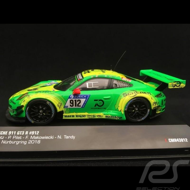 Porsche 911 type 991 GT3 R winner Nürburgring 2018 n° 912 Manthey racing 1/43 IXO 43012