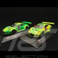 Duo Porsche 911 type 991 GT3 R 24h Nürburgring 2018 n° 911 et 912 1/43 IXO 43011 43012