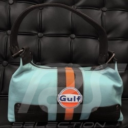 Gulf handbag Lady blue / orange / black leather