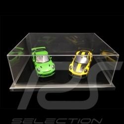 Staubdicht Vitrine für 2 1/18 Modelle Kratzfestes Acrylglas Premium Qualität