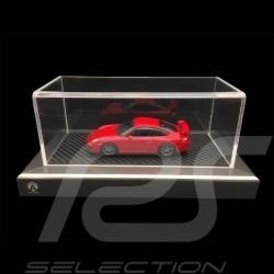 1/43 Vitrine Base Carbon Look / Aluminium Rahmen Acrylglas Premium Qualität